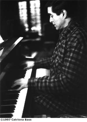 David Earl playing the piano
