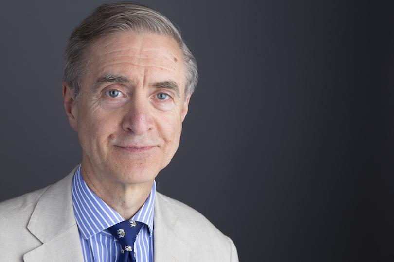 David Earl wearing a linen suit