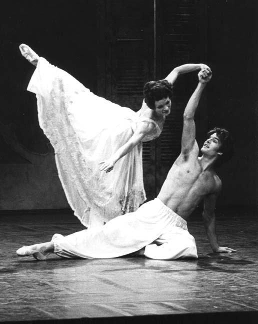 Galina Samsova and Patrick Bissell in the ballet Cheri
